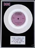 "THE TAMS  - 7"" Platinum Disc  HEY GIRL DON'T BOTHER ME"